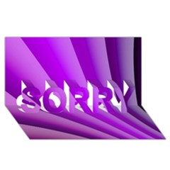 Gentle Folds Of Purple Sorry 3d Greeting Card (8x4)
