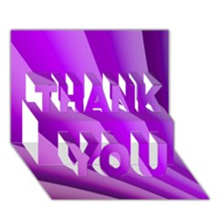 Gentle Folds Of Purple Thank You 3d Greeting Card (7x5)