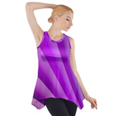 Gentle Folds Of Purple Side Drop Tank Tunic