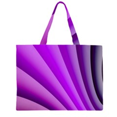 Gentle Folds Of Purple Large Tote Bag