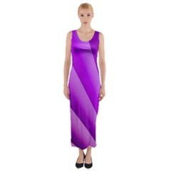 Gentle Folds Of Purple Fitted Maxi Dress