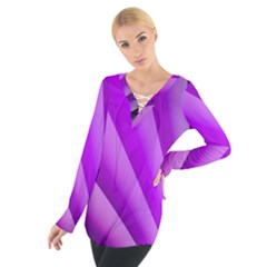 Gentle Folds Of Purple Women s Tie Up Tee