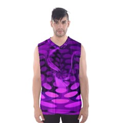 Abstract In Purple Men s Basketball Tank Top
