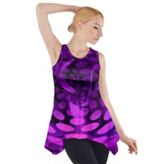 Abstract In Purple Side Drop Tank Tunic