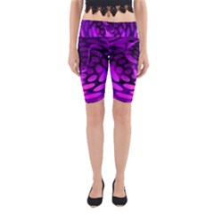 Abstract In Purple Yoga Cropped Leggings