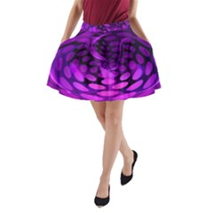 Abstract In Purple A-Line Pocket Skirt