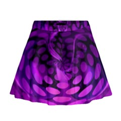 Abstract In Purple Mini Flare Skirt