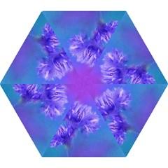 Purple Cornflower Floral  Mini Folding Umbrellas