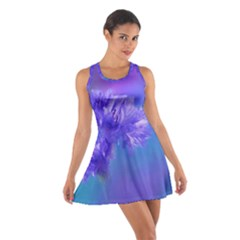Purple Cornflower Floral  Racerback Dresses