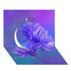 Flowers Cornflower Floral Chic Stylish Purple  Circle 3D Greeting Card (7x5)