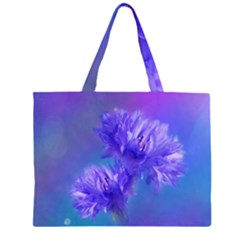 Flowers Cornflower Floral Chic Stylish Purple  Large Tote Bag