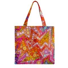 Sunshine Bubbles Zipper Grocery Tote Bag