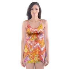 Sunshine Bubbles Skater Dress Swimsuit