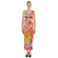 Sunshine Bubbles Fitted Maxi Dress