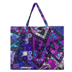 Hipster Bubbes Zipper Large Tote Bag