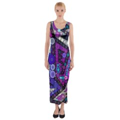 Hipster Bubbes Fitted Maxi Dress