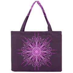 Pink Kaleidoscope Flower Mandala Art Mini Tote Bag