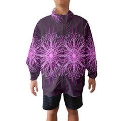 Pink Kaleidoscope Flower Mandala Art Wind Breaker (Kids)