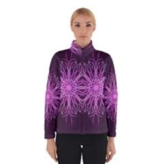 Pink Kaleidoscope Flower Mandala Art Winterwear