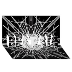 Black And White Flower Mandala Art Kaleidoscope BEST SIS 3D Greeting Card (8x4)