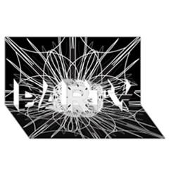 Black And White Flower Mandala Art Kaleidoscope Party 3d Greeting Card (8x4)