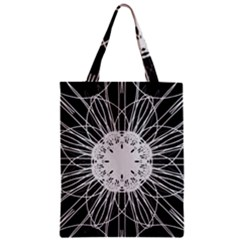 Black And White Flower Mandala Art Kaleidoscope Classic Tote Bag