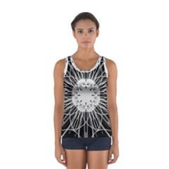 Black And White Flower Mandala Art Kaleidoscope Tops