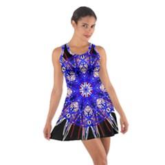 Kaleidoscope Flower Mandala Art Black White Red Blue Racerback Dresses