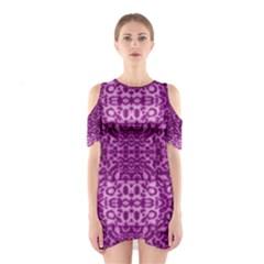 Lion In Purple Cutout Shoulder Dress