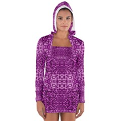 Lion In Purple Women s Long Sleeve Hooded T-shirt