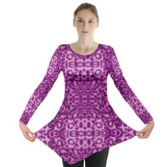 Lion In Purple Long Sleeve Tunic