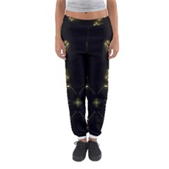 Festive Black Golden Lights  Women s Jogger Sweatpants