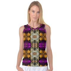 Contemplative Floral And Pearls  Women s Basketball Tank Top