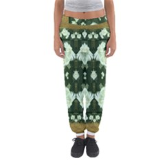 Roses And Flowers In Gold Women s Jogger Sweatpants