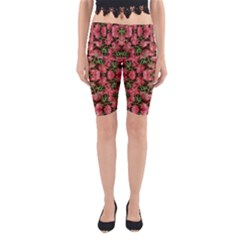 Floral Collage Pattern Yoga Cropped Leggings