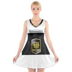 Apple iPhone 6/6S White Enamel Case V-Neck Sleeveless Skater Dress