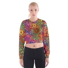 Circle Fantasies Women s Cropped Sweatshirt