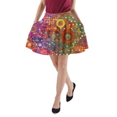 Circle Fantasies A-Line Pocket Skirt