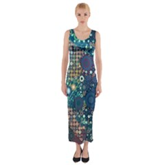 Babybluebubbles Fitted Maxi Dress
