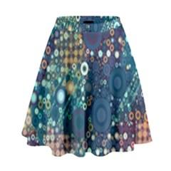 Babybluebubbles High Waist Skirt