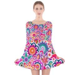 Eden s Garden Long Sleeve Velvet Skater Dress