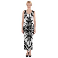 Doodle Cross Fitted Maxi Dress