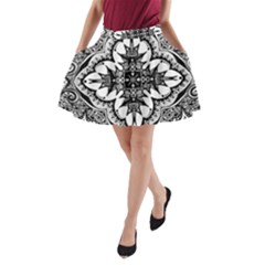 Doodle Cross A-Line Pocket Skirt