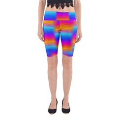 Psychedelic Rainbow heat waves Yoga Cropped Leggings