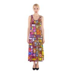 Circles City Sleeveless Maxi Dress