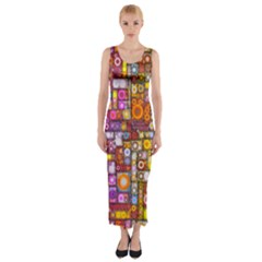 Circles City Fitted Maxi Dress
