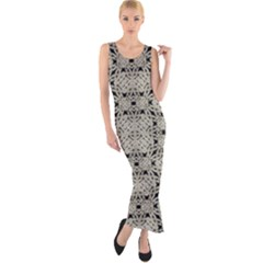 Interlace Arabesque Pattern Fitted Maxi Dress