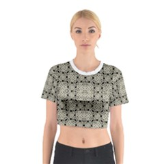 Interlace Arabesque Pattern Cotton Crop Top