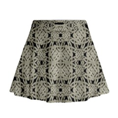 Interlace Arabesque Pattern Mini Flare Skirt