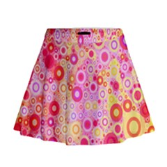 Sweet Pink Bubbles Mini Flare Skirt